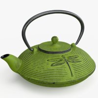 cast iron teapot 3D model