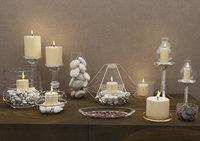 3D interior design decor candle model