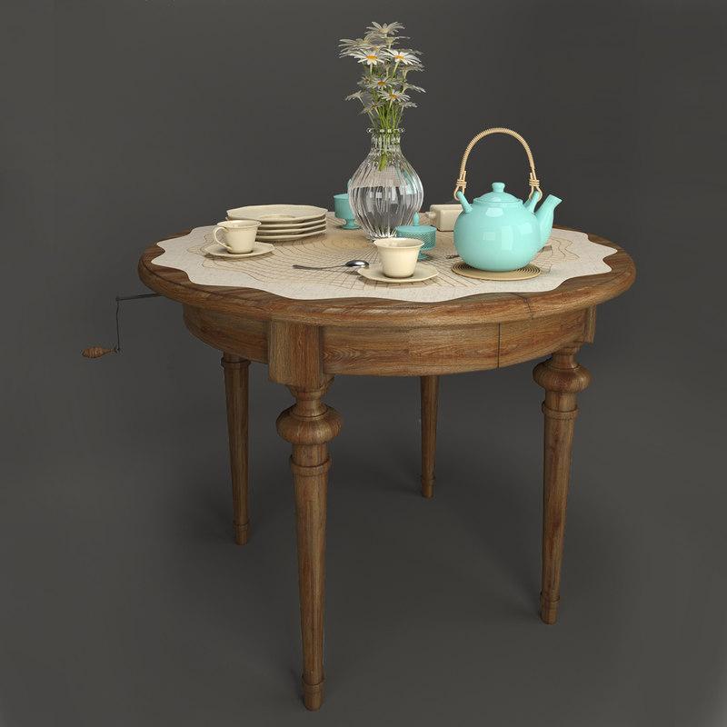 set kitchen table model