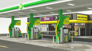 bp garage shop franchise 3D model