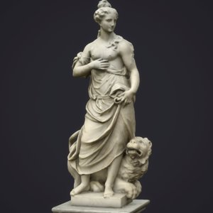 statue allegory peace 3D model