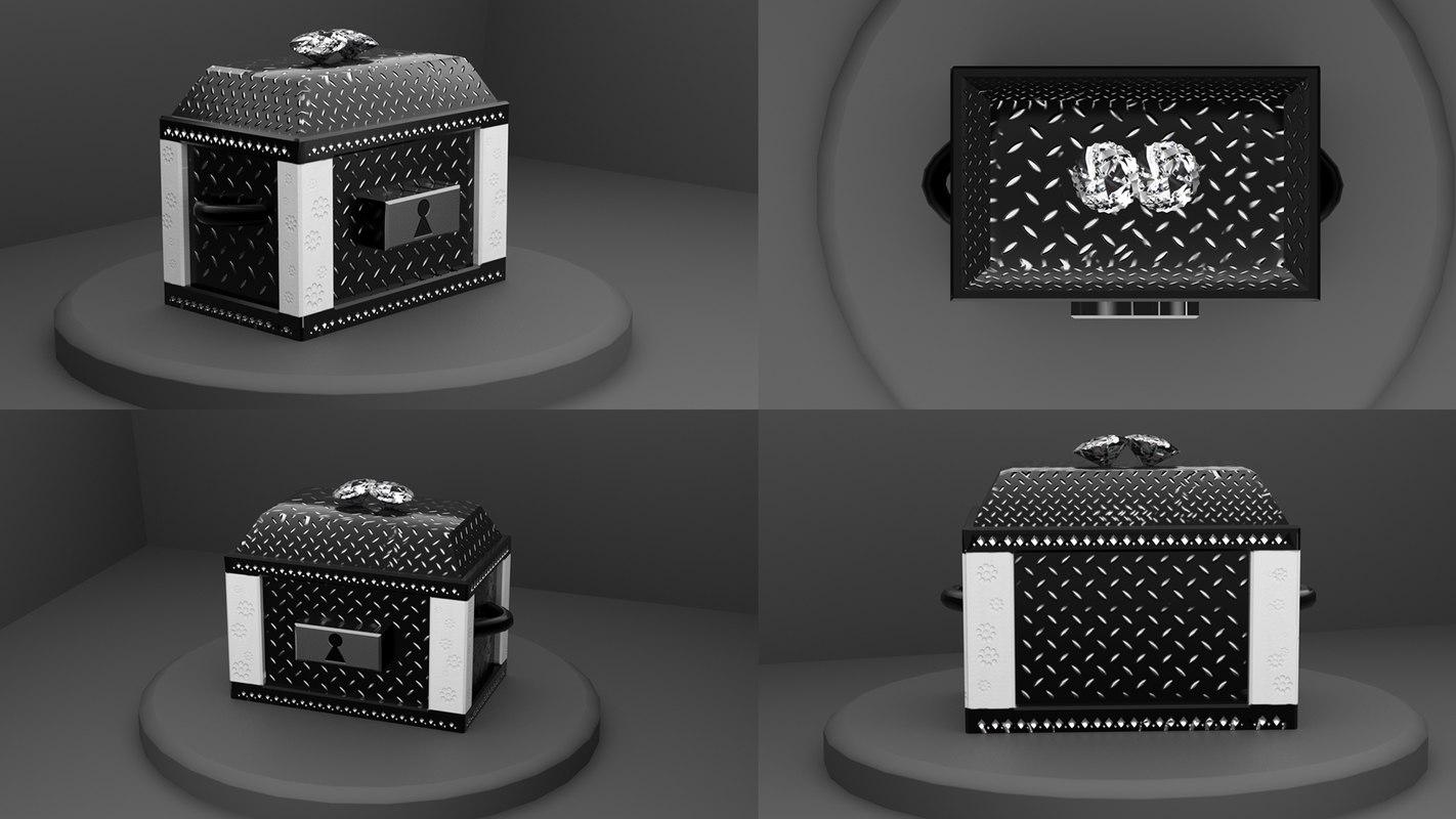 3D model jewelrybox diamonds box