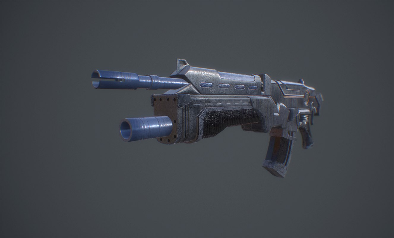 sci fi weapon 3D model