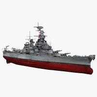 Battleship USS Wisconsin BB-64 WWII 1942-1945