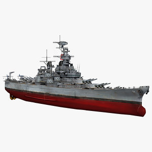 3D model uss wisconsin bb-64 1942-1945