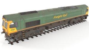 3D diesel locomotive polys