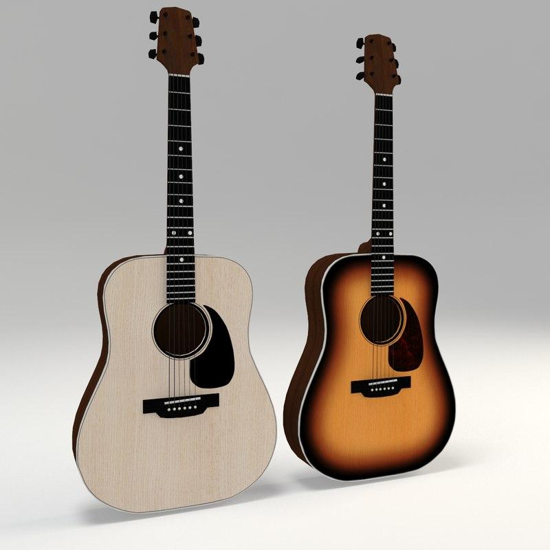 3D guitars - model