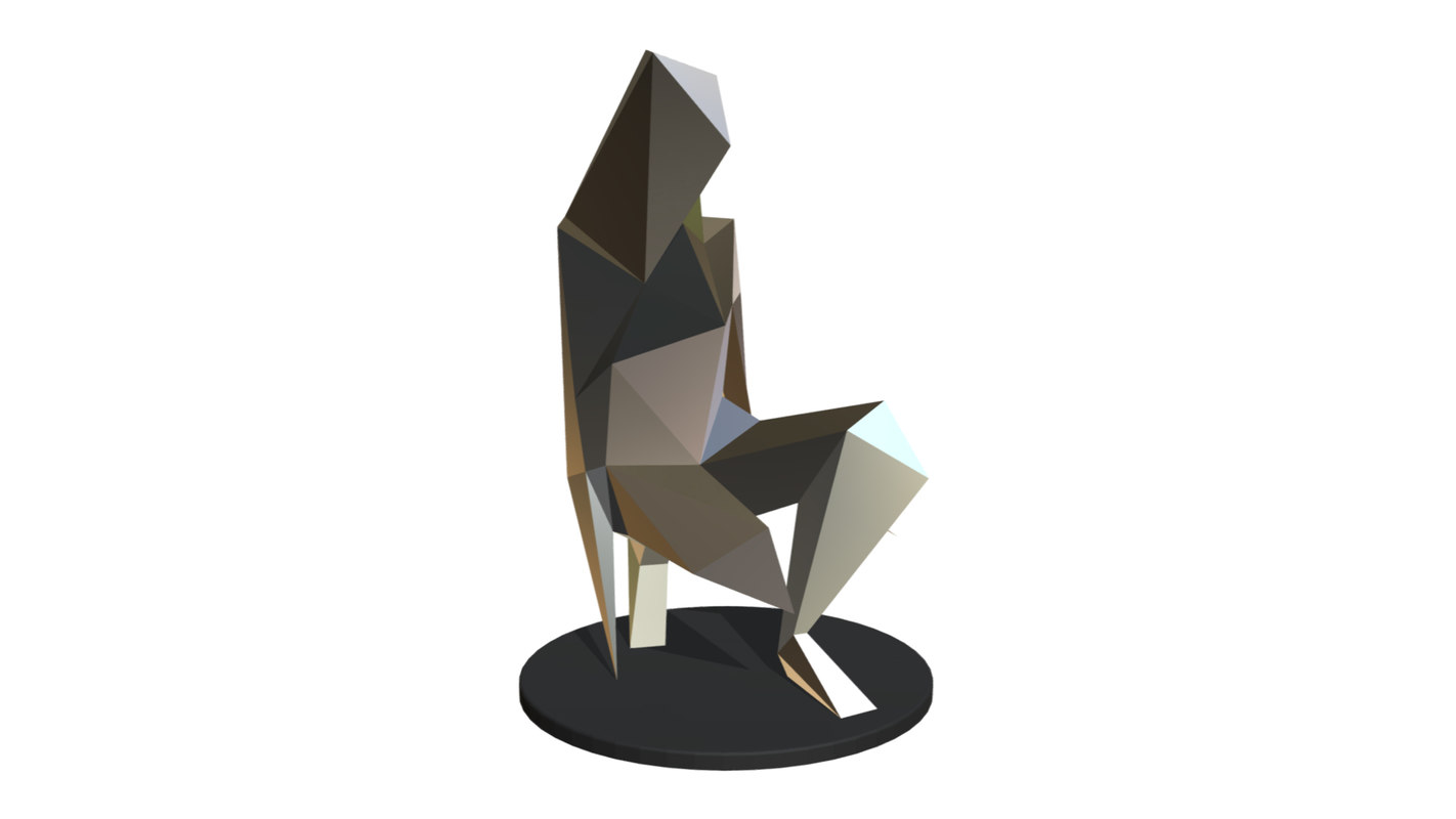 3D printed girl sculpture