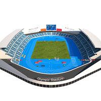 olympic stadium 3D