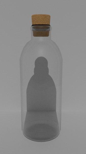 pbr bottle 3D model