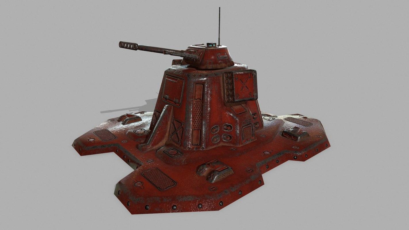 3D missile turret model