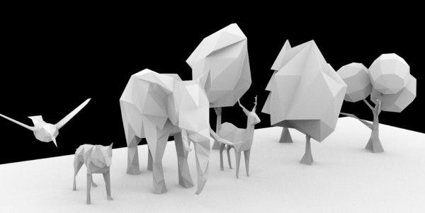 nature 3D model
