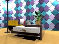 3D livingroom furniture