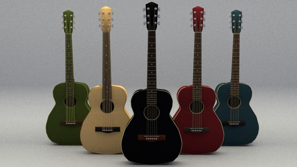 3D acoustic guitars