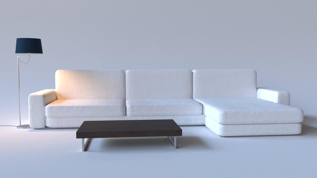 sofa table floor 3D