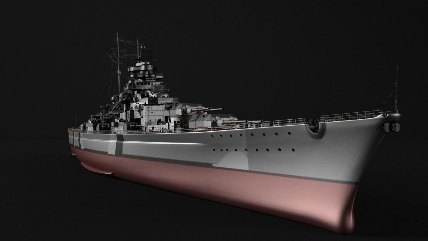 battleship bismark model