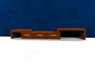 3D tv cupboard