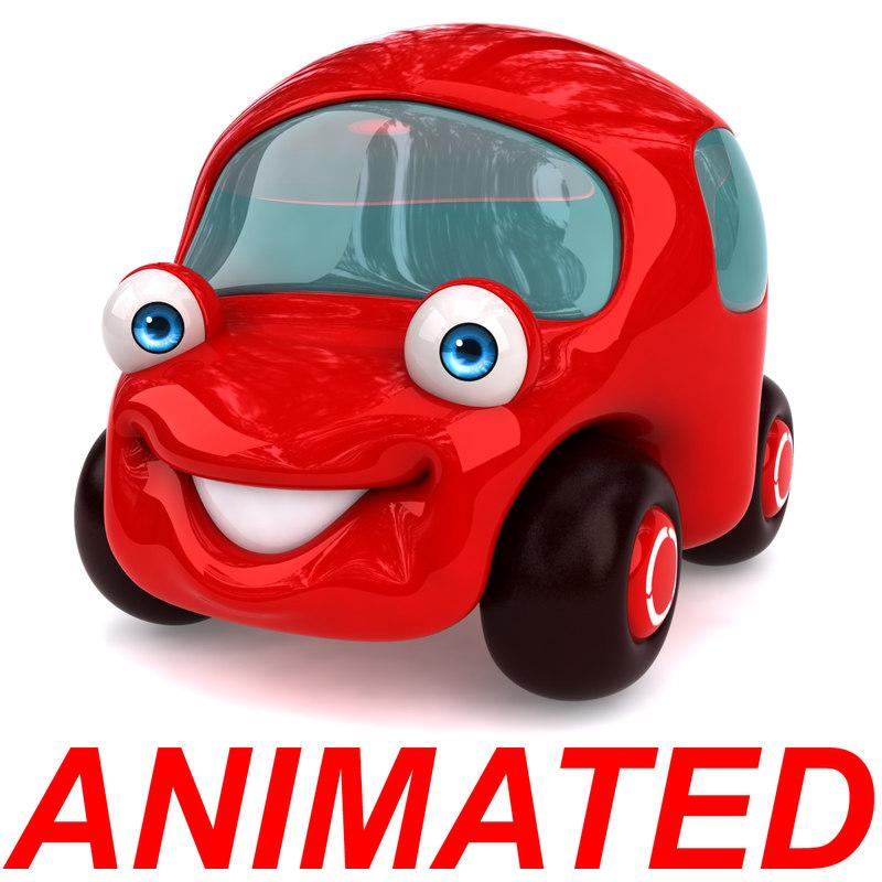 fun cartoon car 3D model