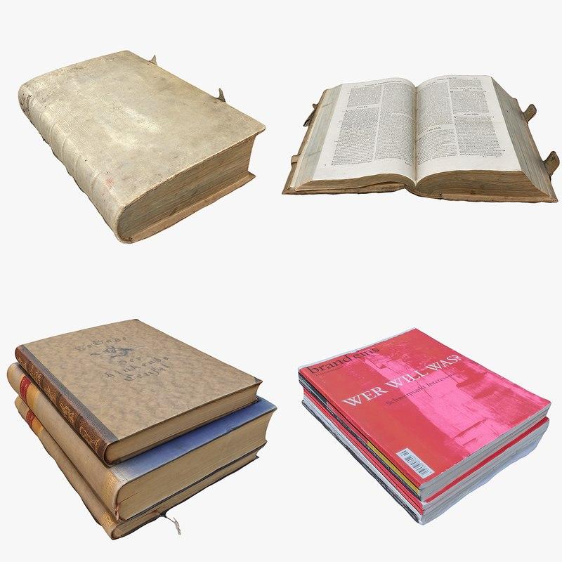 3D books model