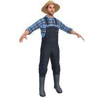 farmer man straw model