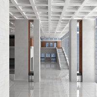 modern hall scene 3D model