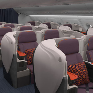 3D business class interior singapore