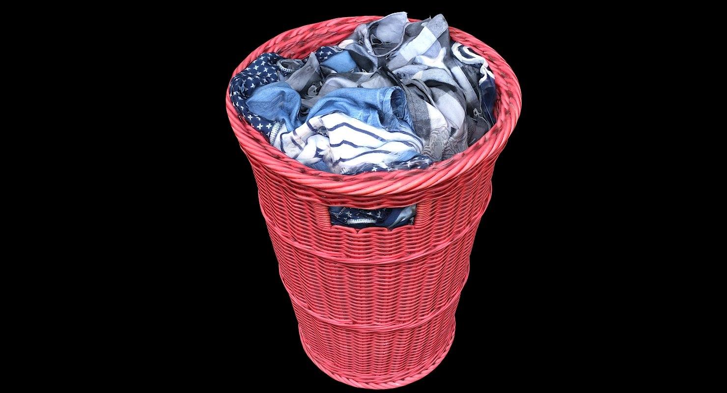 clothes basket 3D