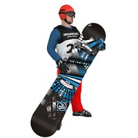 rigged snowboarder board 3D