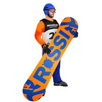 3D rigged snowboarder board