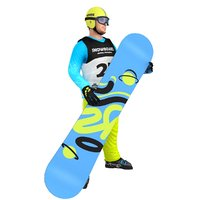 rigged snowboarder board 3D model