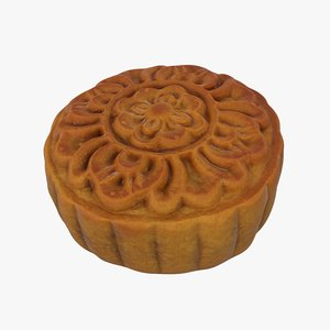 3D model moon cake