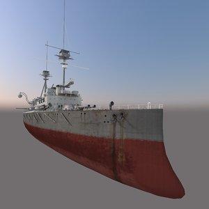 battleship lord nelson 3D model