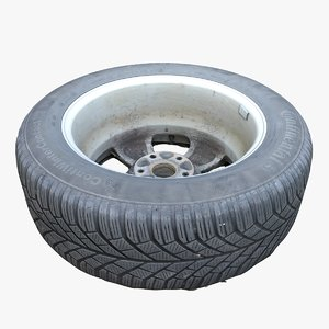 3D dirty car tire model