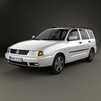 3D model volkswagen polo 1997