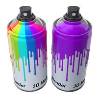 container paint spray 3D model