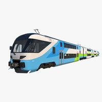 3D stadler dosto passenger train