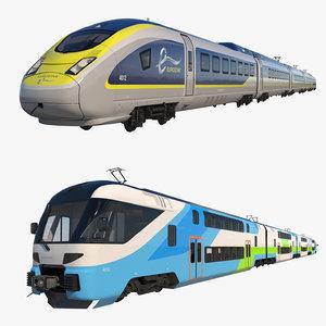 3D trains eurostar model