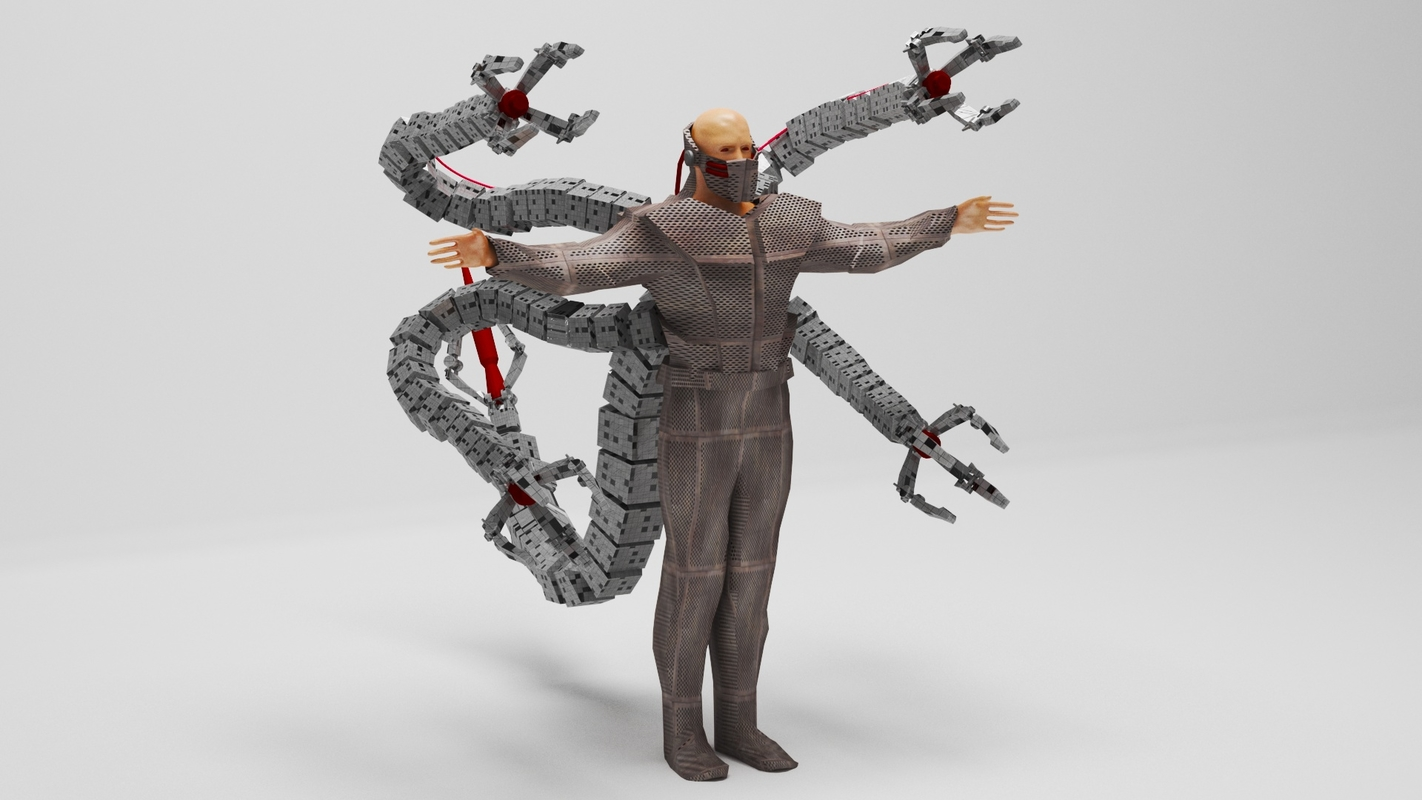 3D model scifi character