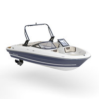 3D model motorboat bayliner