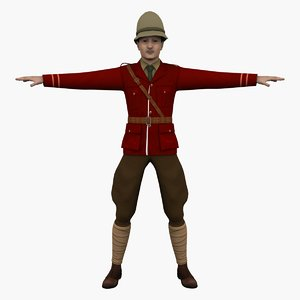 british officer rigged model