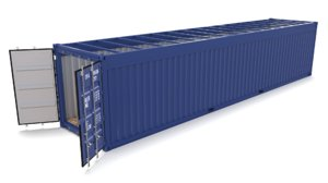 40ft shipping container open 3D