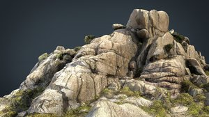 3D model mountain rocks 5