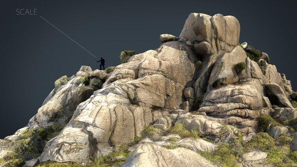 3D model mountain rocks 5