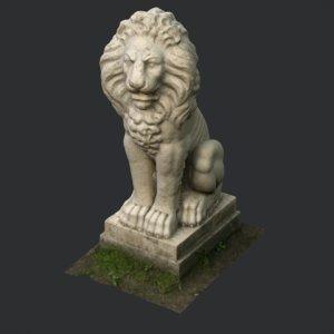 3D statue lion pavlovsk