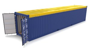 40ft shipping container open model