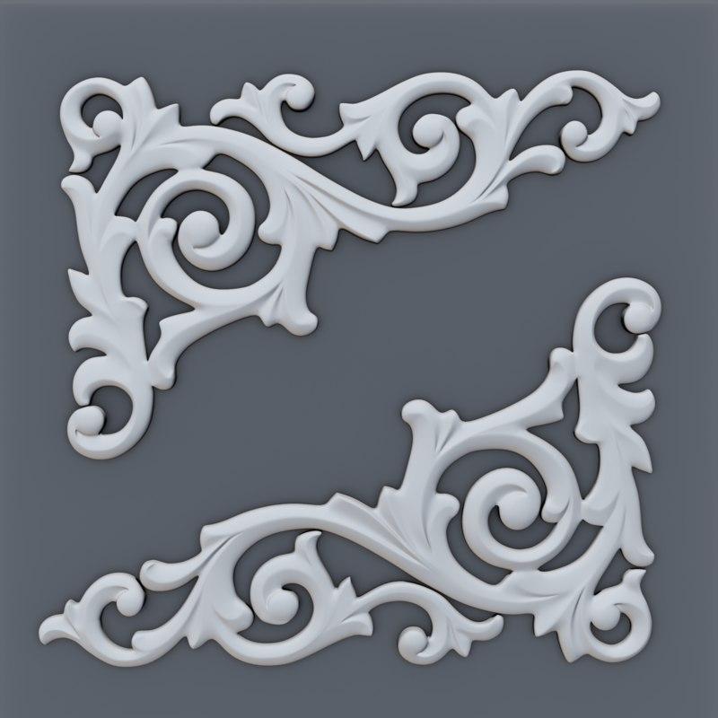 3D decor molding model