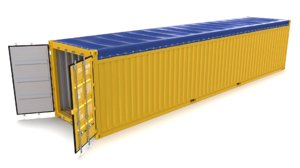40ft shipping container open 3D model