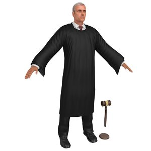 court judge 4 3D model