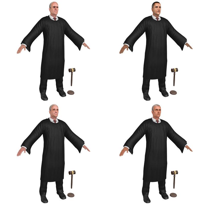 pack judge gavel 3D model