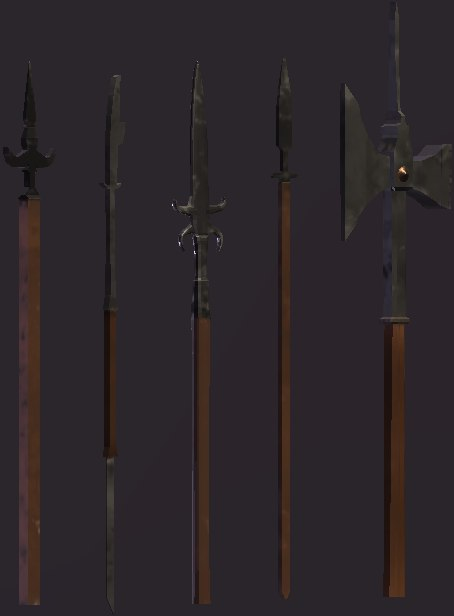 pack medieval weapons 3D model